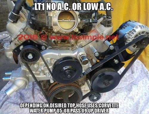 ls conversion brackets-LSSimpleLT1 accessory kit using LS truck ...