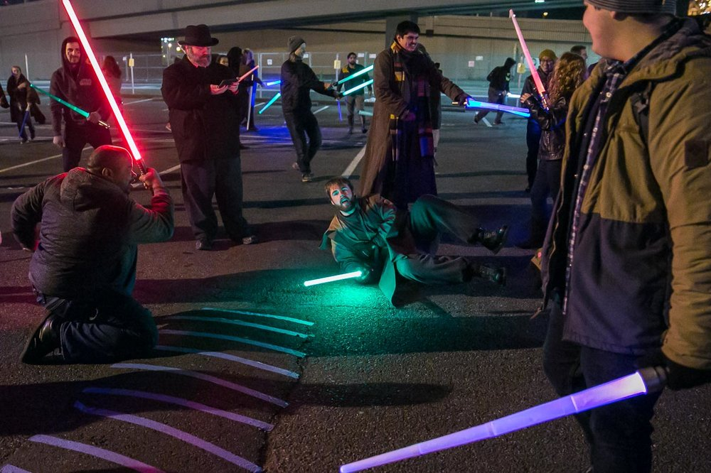 Seattle Event Photographer |Glow Sword Battle Tour 2016