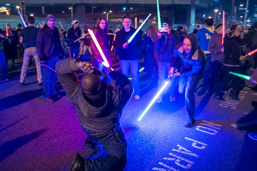 Seattle Event Photography | Glow Sword Battle Tour 2016