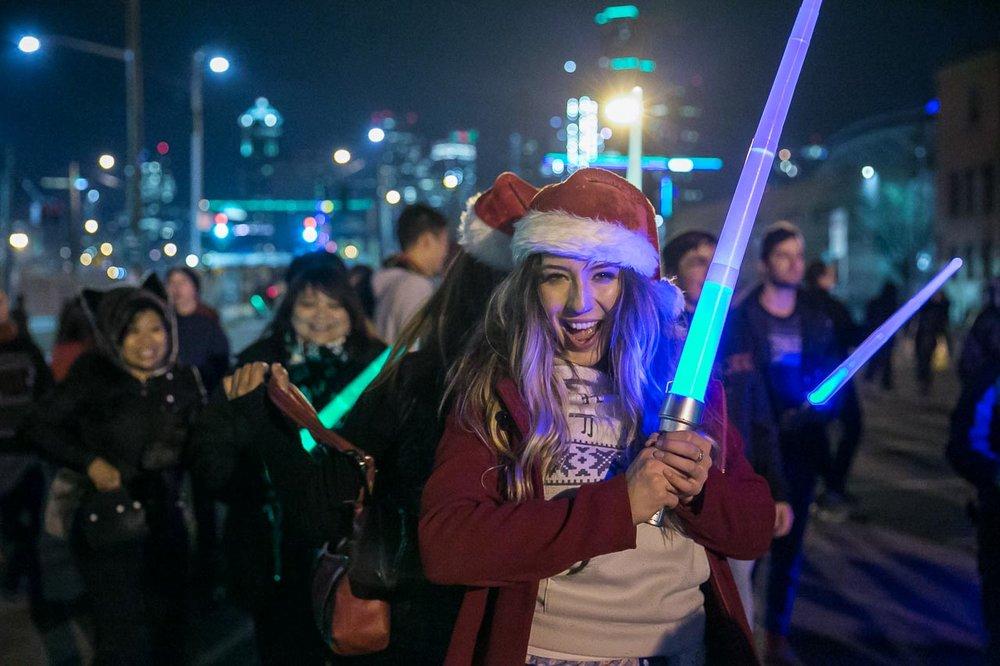 Seattle Event Photographer |  Glow Sword Battle Tour 2016