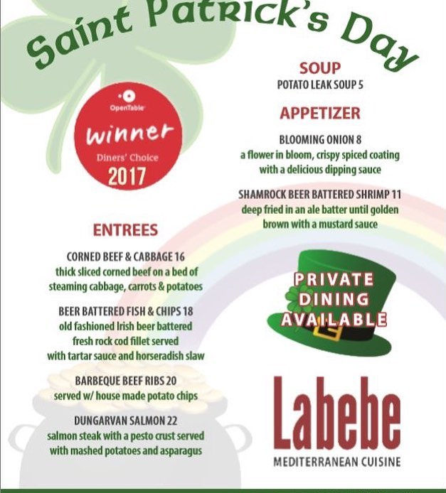 ☘️☘️☘️Come join us this Weekend for an amazing Saint Patty's Day Feast☘️☘️☘️