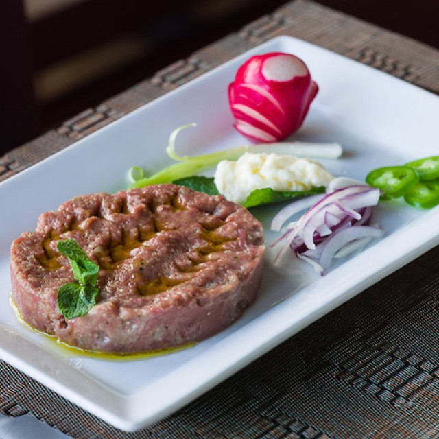 KIBBEH NAYEH || Lamb Tartar || Burghul || Onion || Mint || Allspice ||