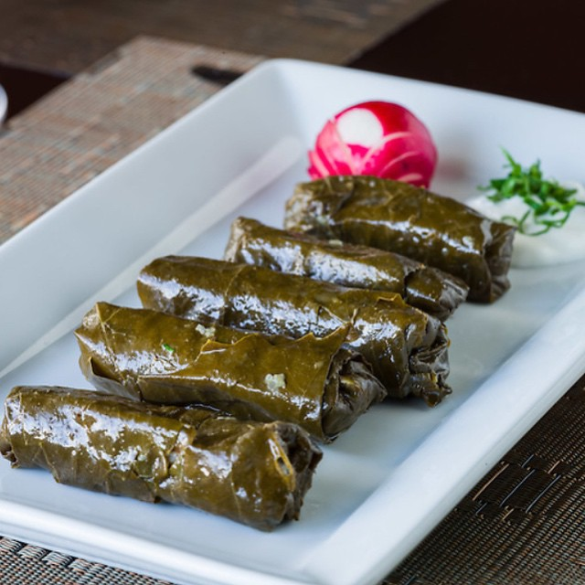 STUFFED GRAPE LEAVES || Rice || Tomato || Fresh Herbs ||