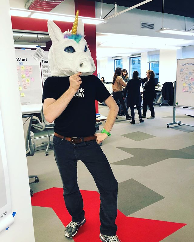 Spotted a rare breed in our midst 🦄 #thinkwrong #unicorn #rare #fashion