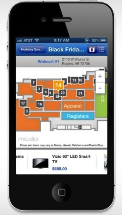 Walmart App update enables Aisle-Level Product Search — Indoor LBS on ios store, windows 8 store, map search, google store, map google, map app talk, iphone store, map my walk app, map bing, map weather, map design, map pins app,