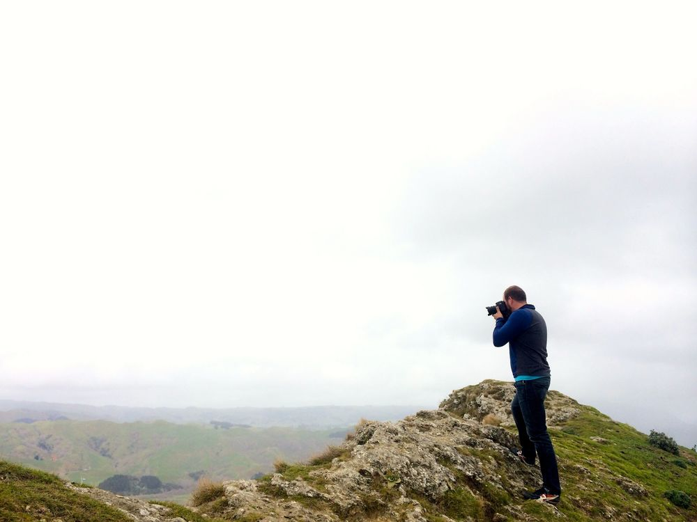 Bold as brass. Atop Te Mata peak