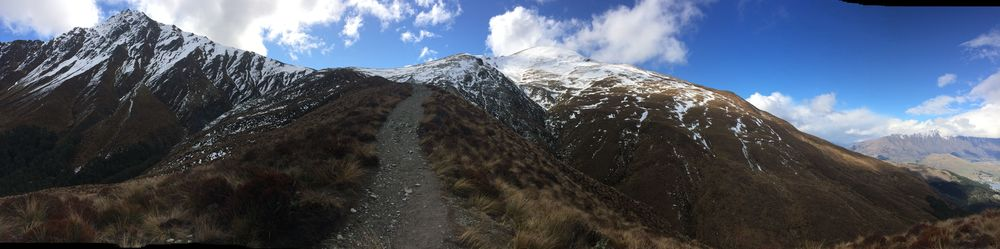 Path up to the mountain saddle of Ben Lomond, outside of Queenstown.