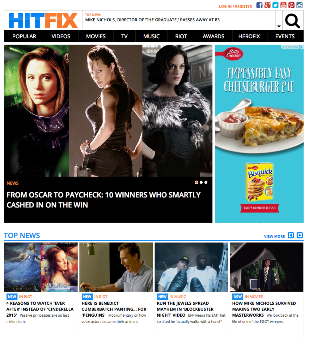 HitFix   Entertainment News  Events  Exclusives   Reviews for Movies  Film  Television  Music.png