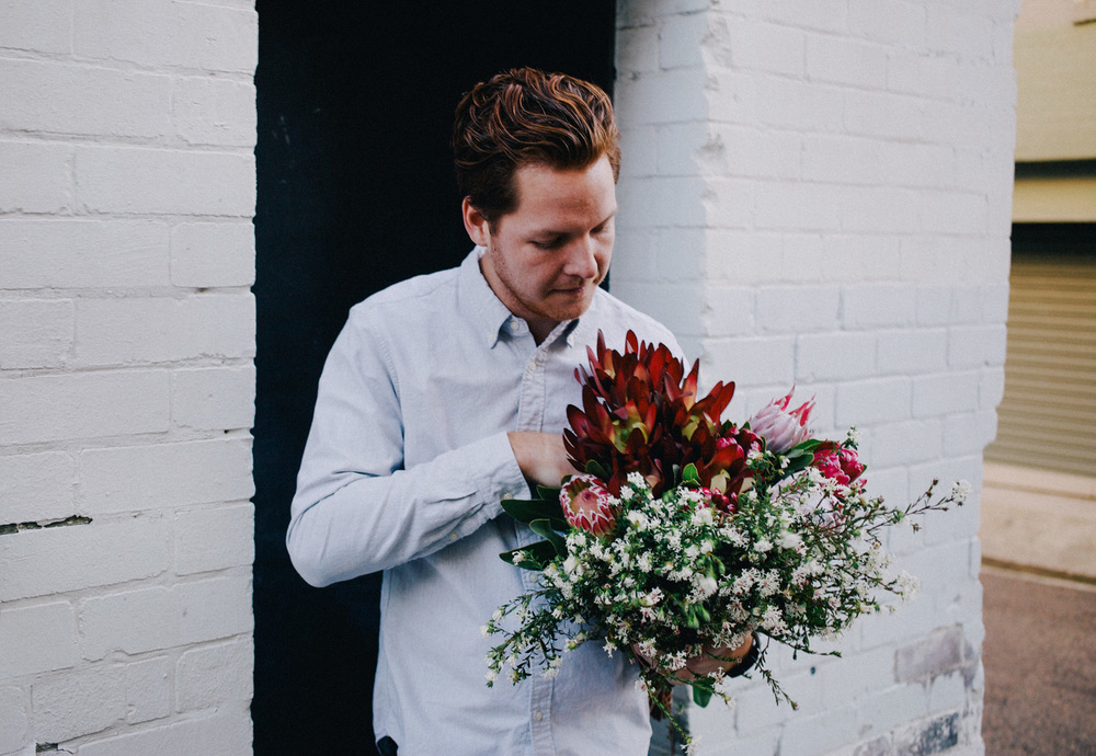 GUIDE/ ARRANGING BLOSSOMS W/ MY FLOWER MAN My Flower Man is a floral service run by Kieran Birchall based in Sydney, Australia that allows people to have a flower man who they can call on when ever then need to wish someone well, organise a special event or just need blooms for the home.