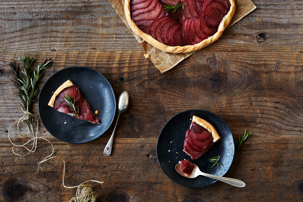 Festive Poached Pear Galette by tête-à-tête &PLATE
