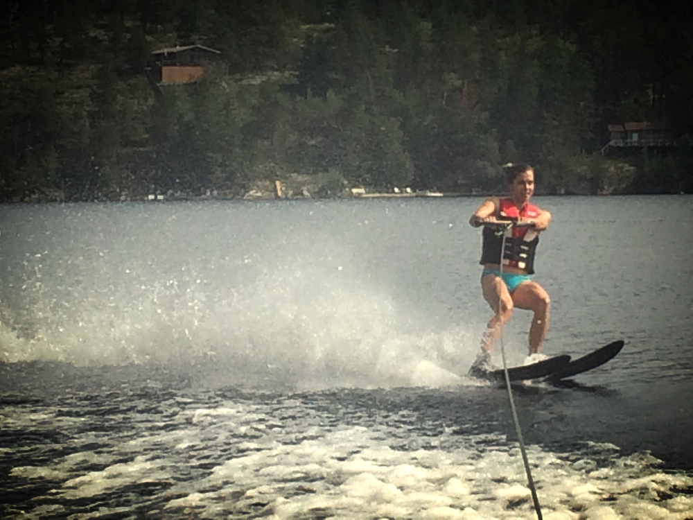 I've never water skiied before, but I know I'll be back for more. You can't replace floating through back country powder, but water skiing is definitely a good time!