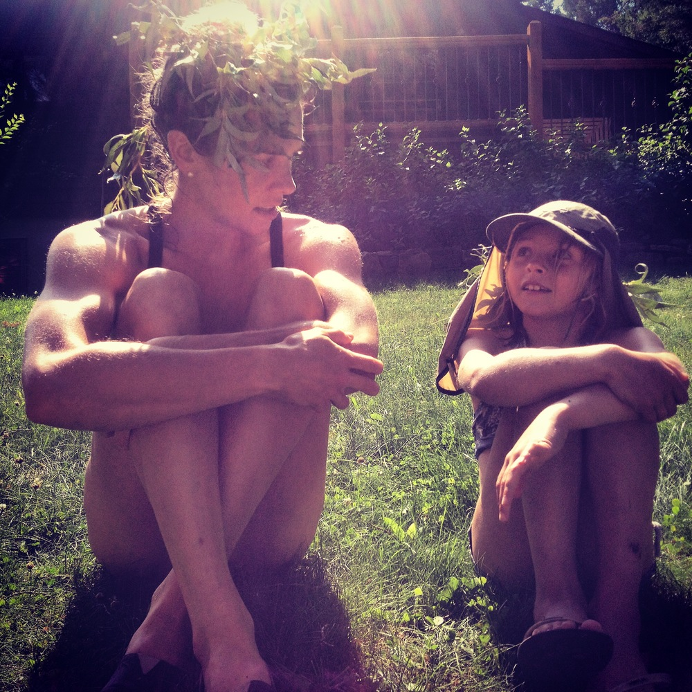 Aria Grandi and I talking fairies after a waterfight at the Renner cabin in Invermere