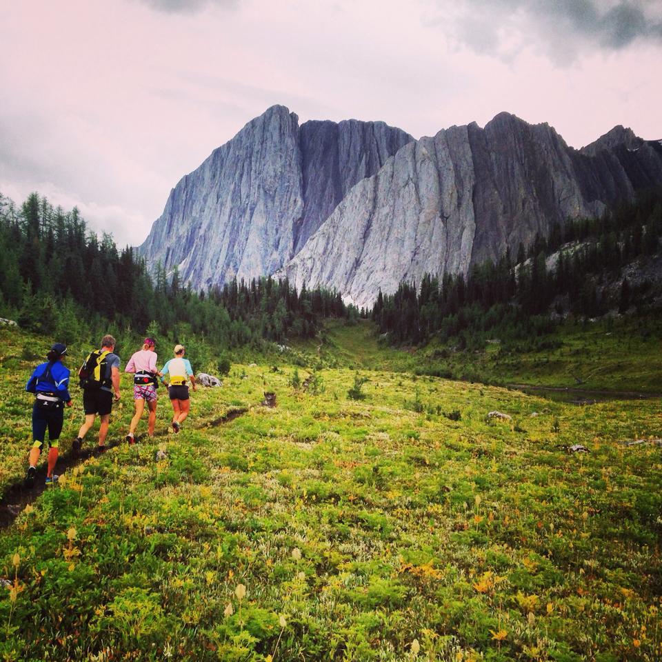 Trail run out of the Haig camp. Photo: Rosanna Crawford