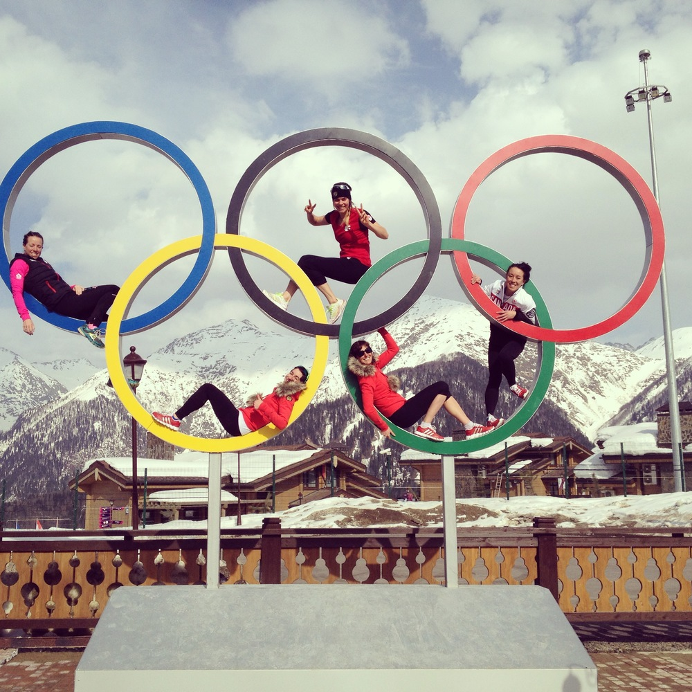 Canadian Ladies. Hanging out in Sochi.