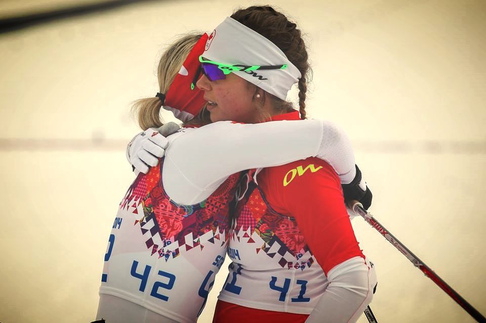 Chandra and I post sprint race qualifier in Sochi. The highs of qualifying for the Olympics followed by the lows of coming short of my goals at the Games. Grateful to have friends and family to get me through!