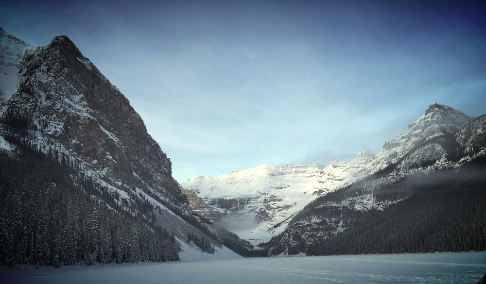 Stadium view for the 10km Classic at Western Championships in Lake Louise. Best in the World? I'd say.