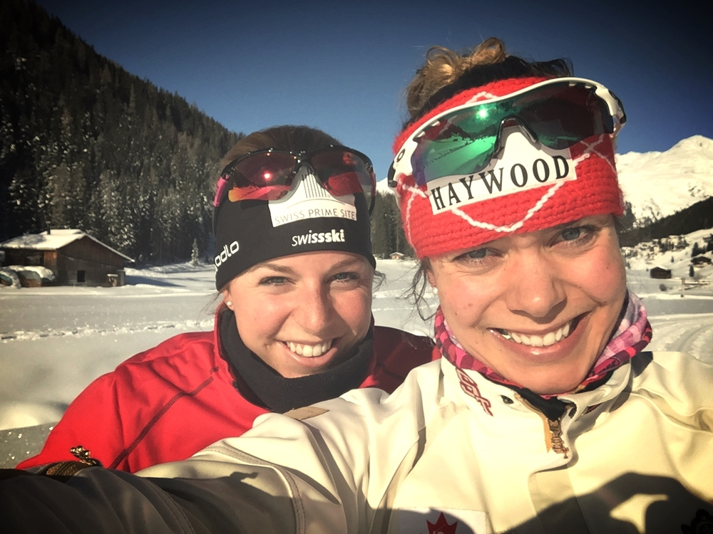 Tatjana Stiffler and I. Meine Schweizer Schwester