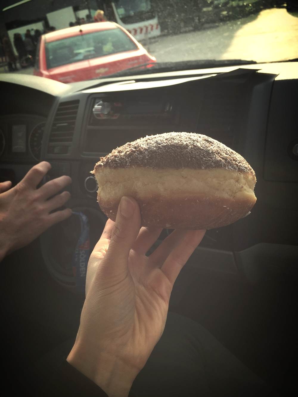 The best doughnut in the world - baked fresh and the size of my head. Thanks to the SLO team for showing me!