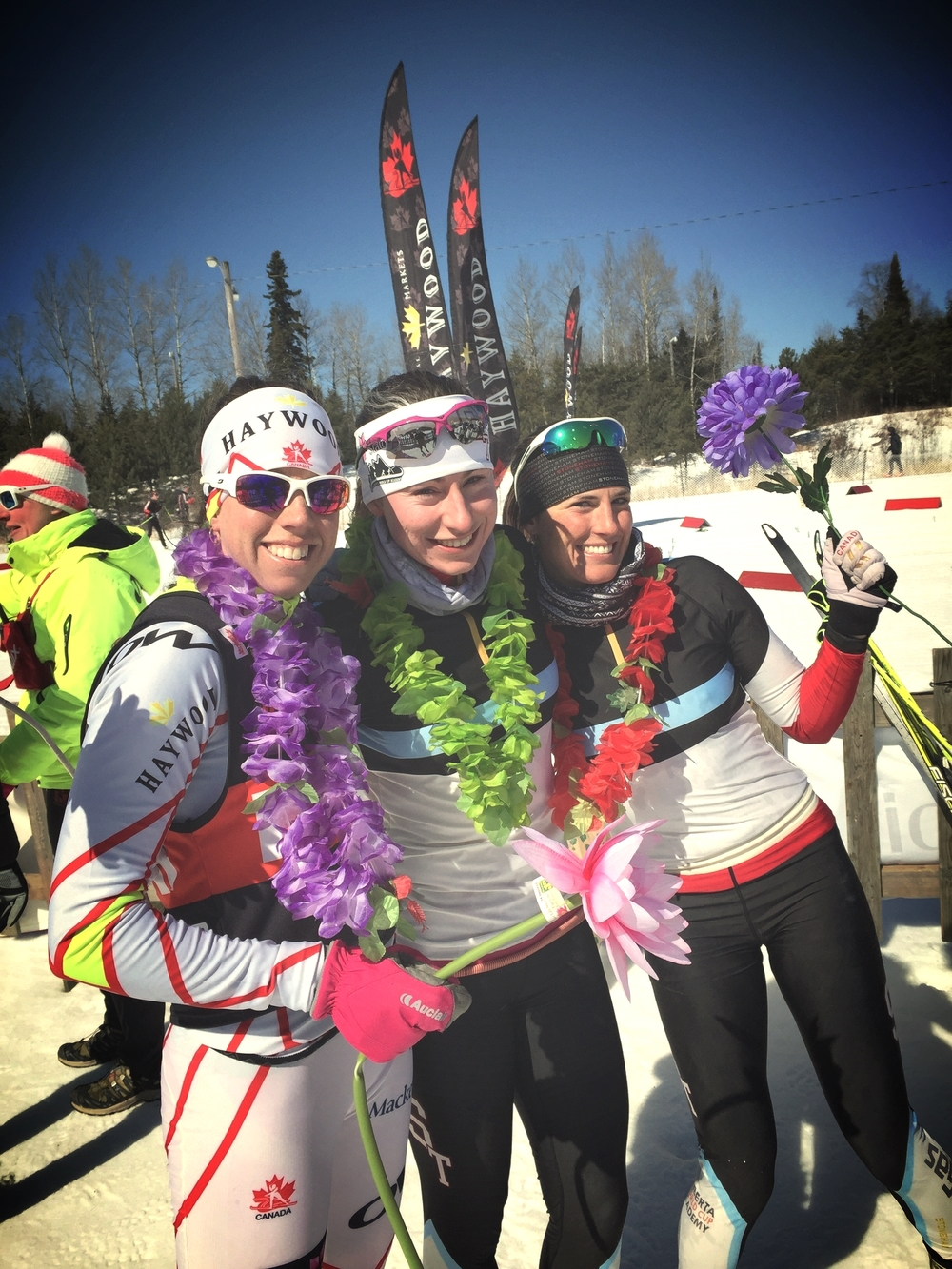 Congratulations Peri, Alysson and Brittany! A solid 30km of racing to finish off their careers. A lot less pretty faces will be on the ski trails! All the best in your next chapters. Xo