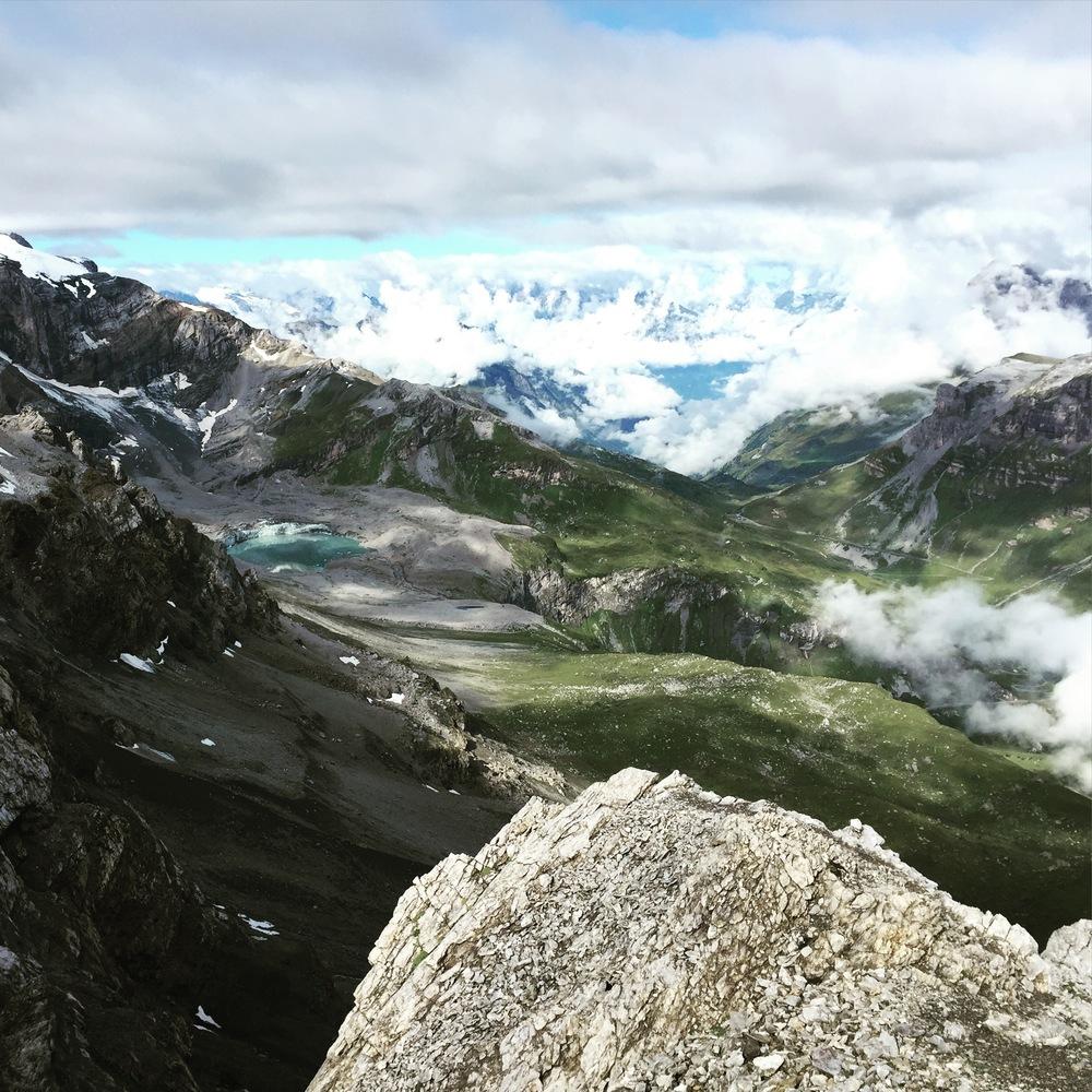 Beautiful view overlooking Urnerboden from Gemsferenstock (2972m)