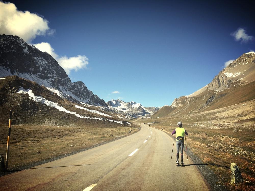 Seraina cruising through Albula Pass