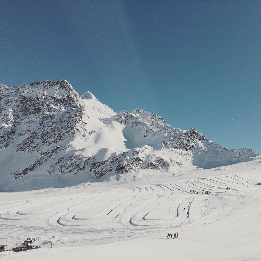 The beautiful Schnalstal/Val Senales Glacier, Süd Tirol, Italy.