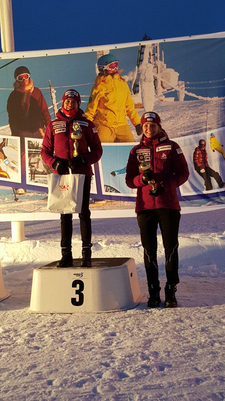 Nathalie Von Siebenthal and Nadine Fähndrich finished 3,4 on the day