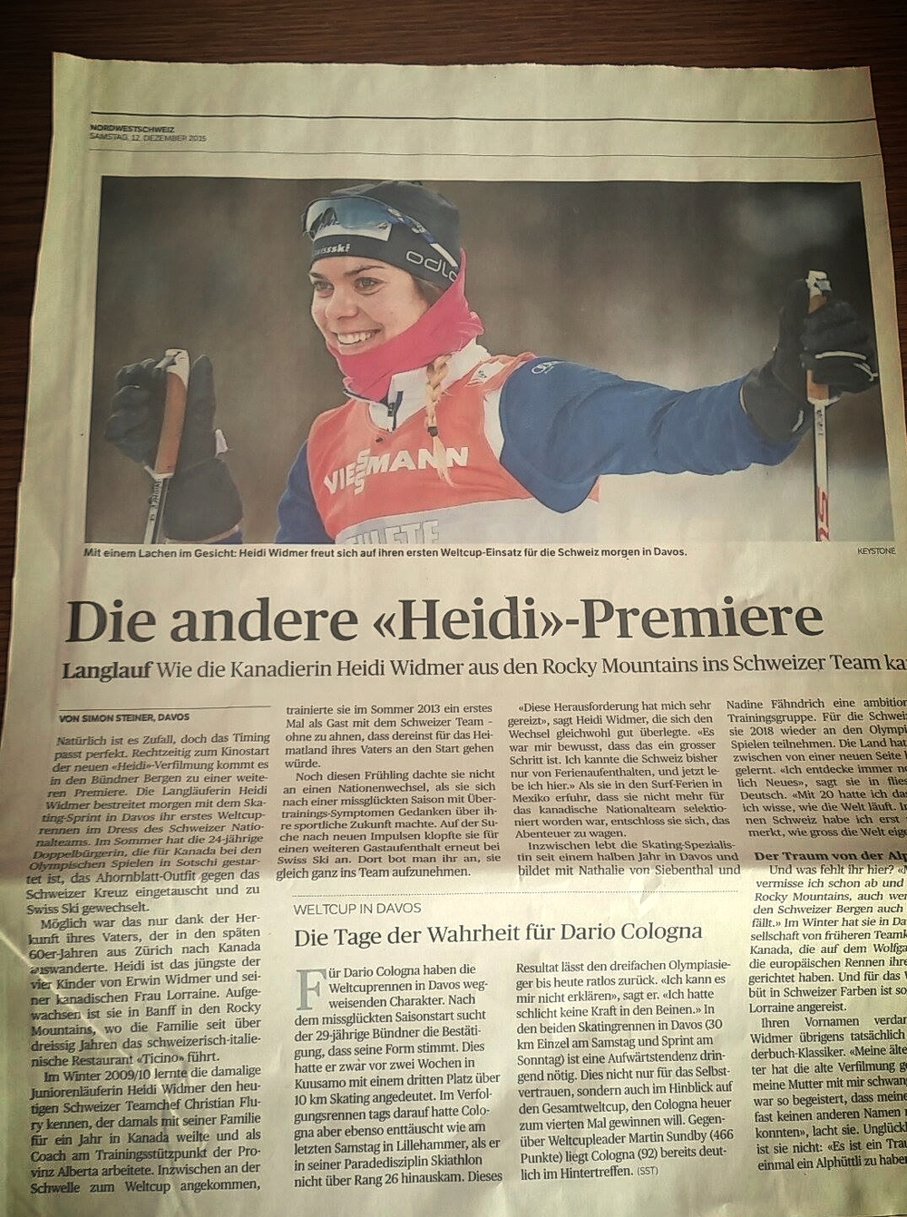 Article featured in Aargauer Zeitung - thanks to Simon Steiner.