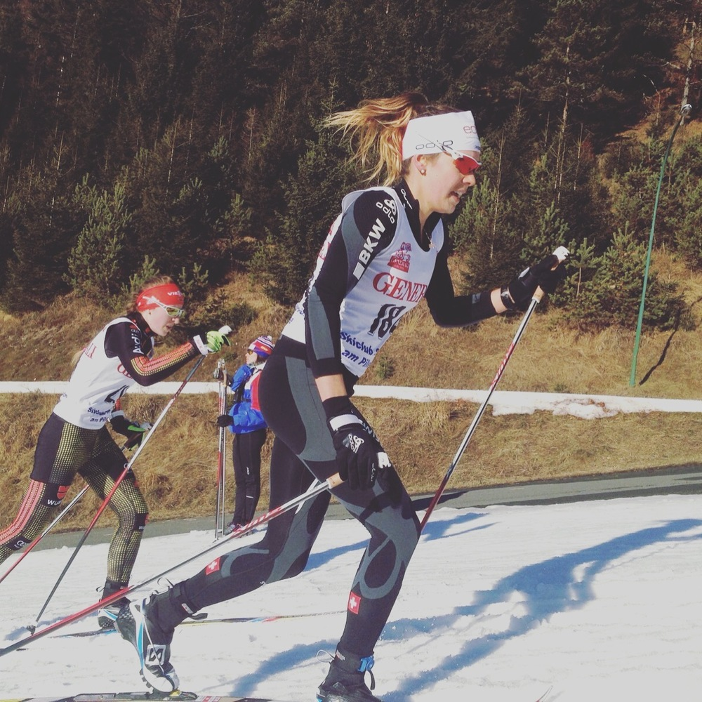 Spring in December. 10k Classic Hochfilzen, AUT. Photo: Janis Lindegger