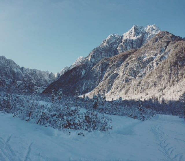 Planica, Slovenia. Gorgeous! A photo taken today would look like a brown, soggy, blog. The snow is gone, gone, gone!