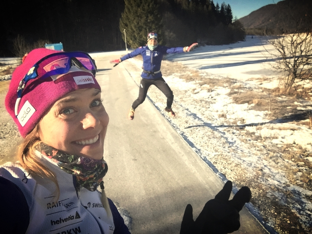Täz is stoked. Post sprint relay in Planica!