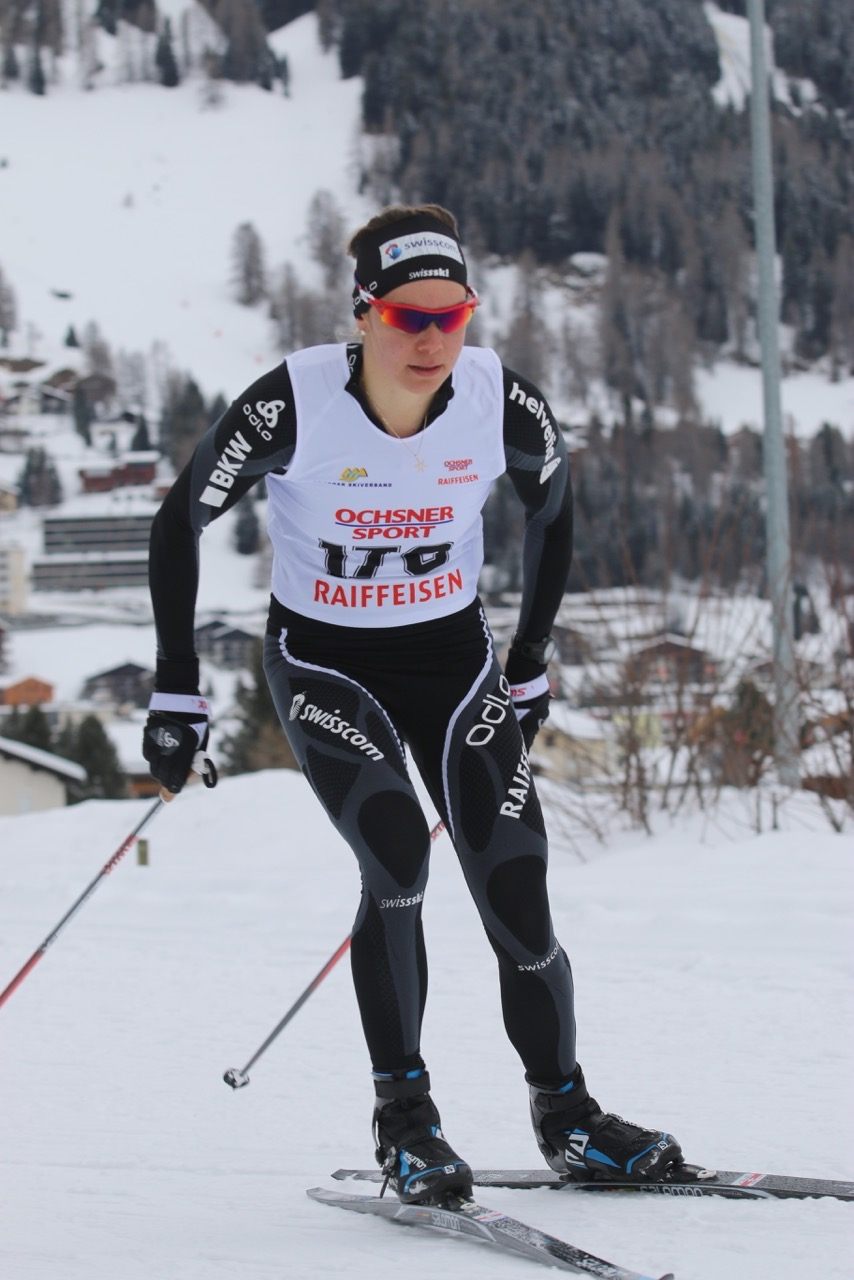 Racing Bünder Meisterschaft auf der Nachtloipe in Davos. I won the 7.2km individual skate event. Photo: Walti Bäni