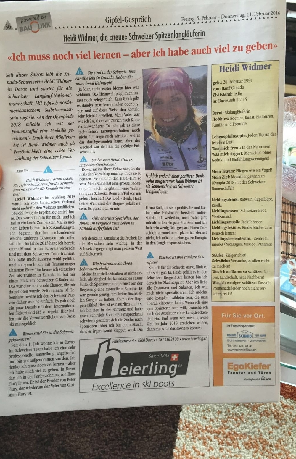 Cool! Davos newspaper interview. Thanks Walti Bäni :)