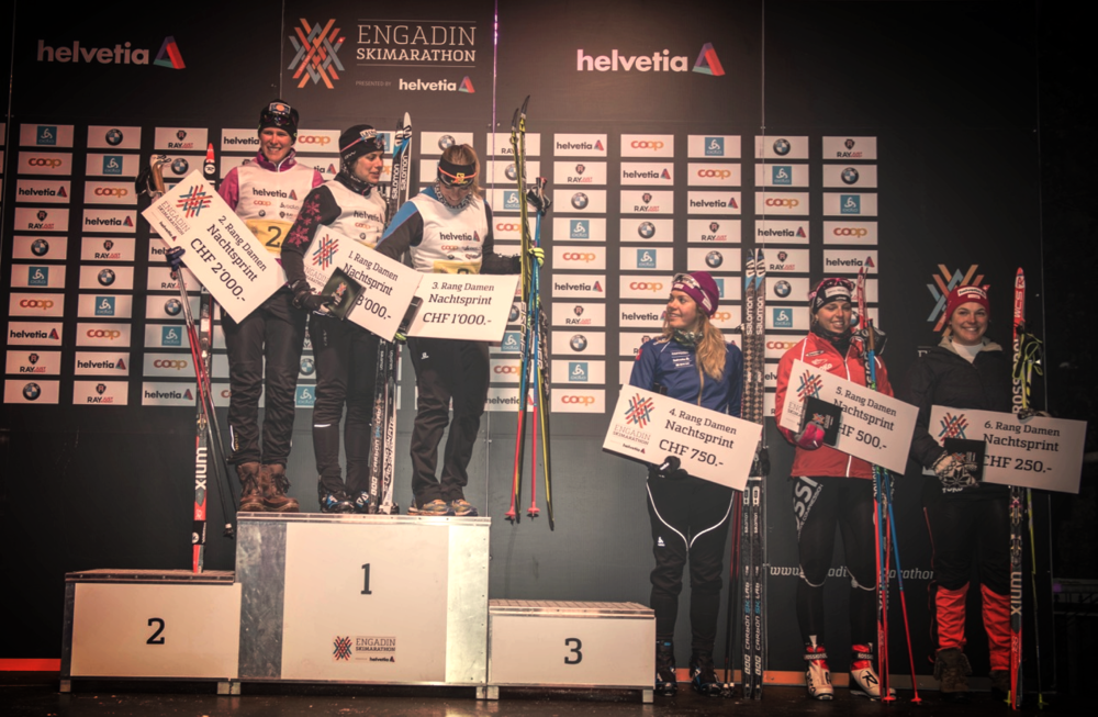 4th place finish in the Sankt Moritz night sprint Photo: nordic-online.ch
