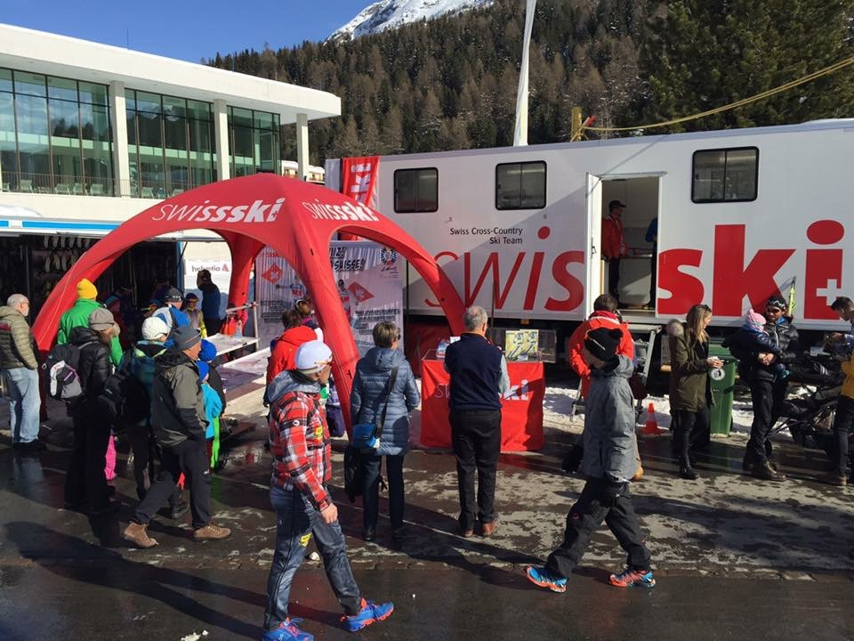 Swiss Ski wax truck as part of the festival village.