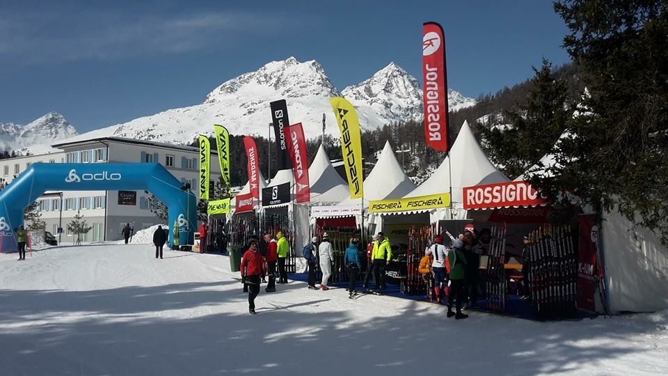 Visitors and competitors could wander through the festival village in St.Moritz and visit different sponsor vendors, test products and sample cheese.