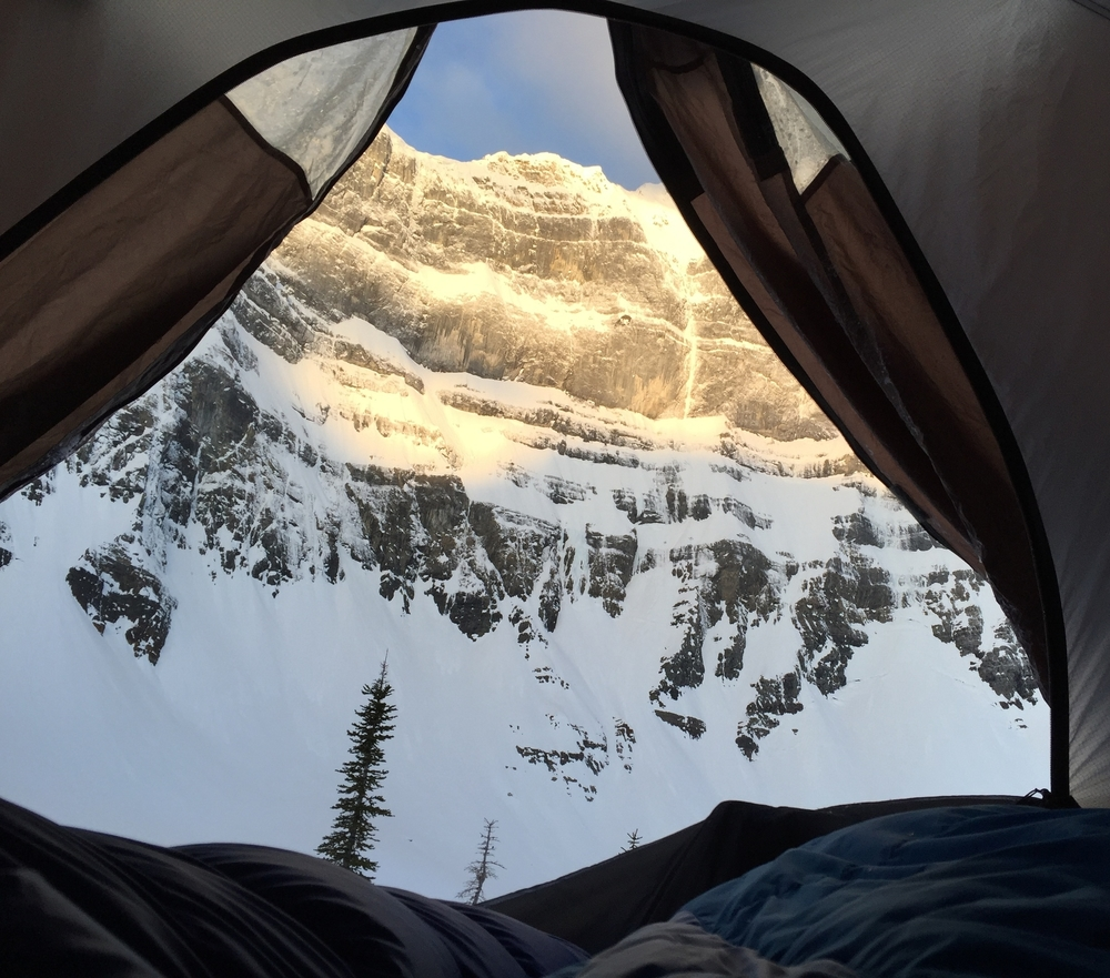 Sunrise wakeup - Rocky Mountains, Canada.