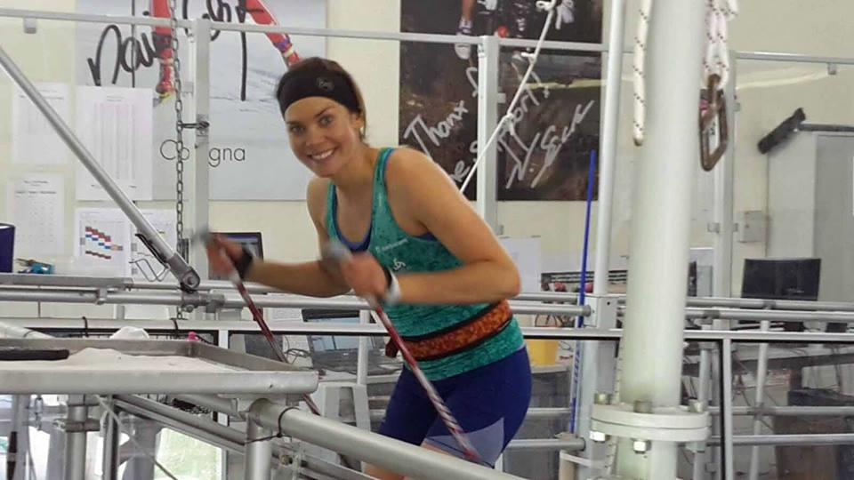 Getting my fitness rat on in the Magglingen testing lab. Thanks the  Buff Canada  for keeping the sweat out of my eyes and the continued support!