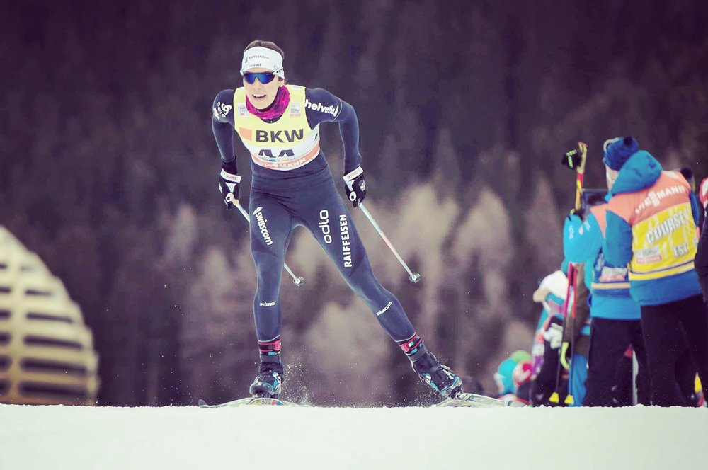 Speeding away to a 32nd place in the World Cup Davos. Photo: Nordic Focus