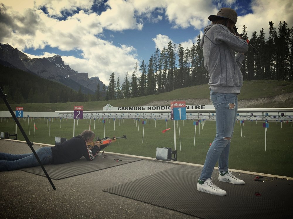 Trying my hand at biathalon with my dad on Father's Day. Shot 2/5 standing, but my dad is a faster shot. Thanks Macx Davies for your patience!