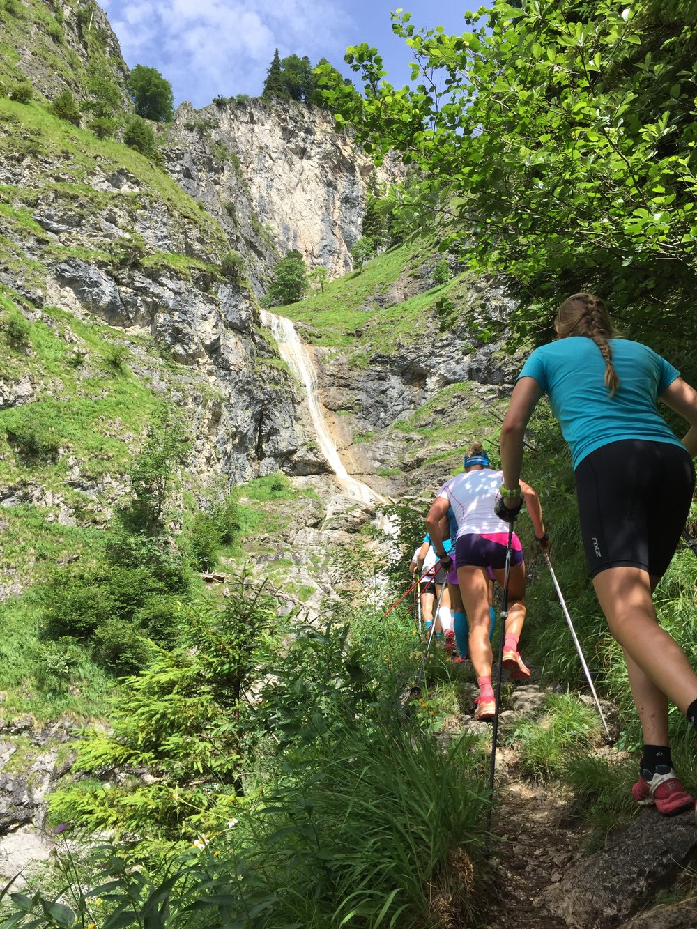 A long training tour near Sonthofen/Oberstdorf, Germany