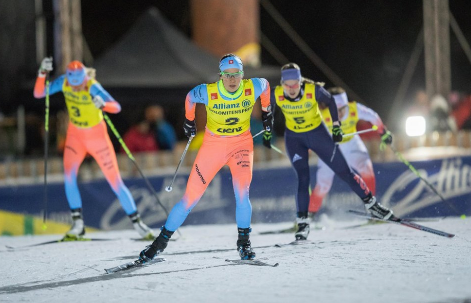 Dolomitensprint in Obertilliach, Austria under the night lights Photo:  worldloppet.com