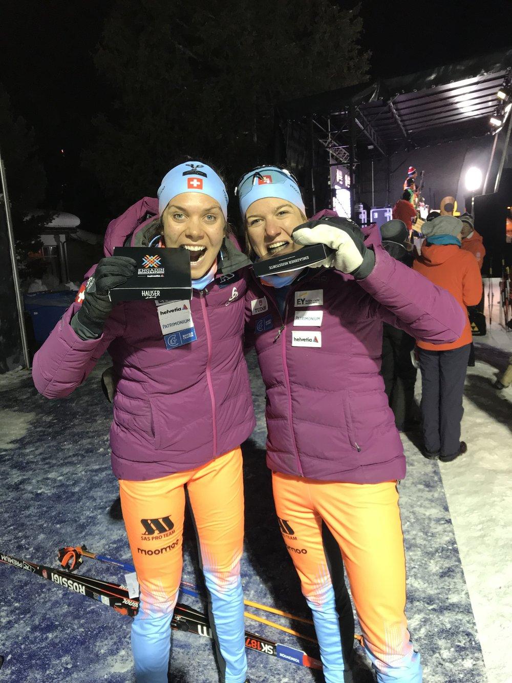 Bündner Nusstorte mit Rahel in St.Moritz