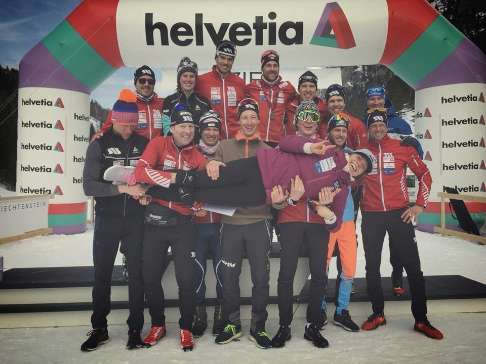 The SAS Nordic Team at Swiss Nationals. Thanks for the times and the sendoff :)