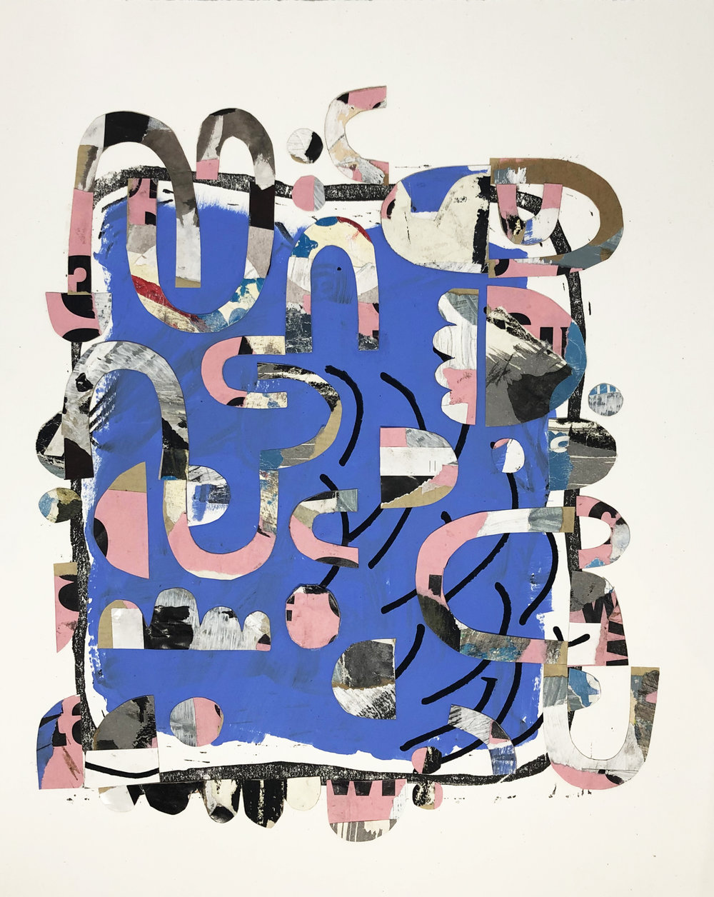 """A Collection of Missed Turns,  2013-19, Paper, Serigraphy, Ink & Flashe Vinyl on Paper, 14"""" x 11"""" inches"""