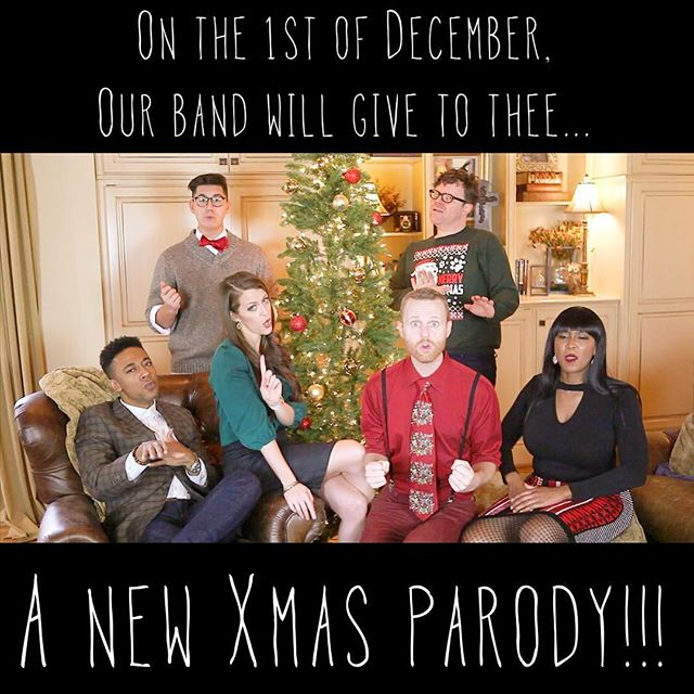 "Prepare yourself as @axiomvocal plans to get you into the holiday spirit with our newest song and video parody out December 1st! Any guesses on what tune will be transformed? Hint: it'll surely ""Usher"" you into the season 😉"