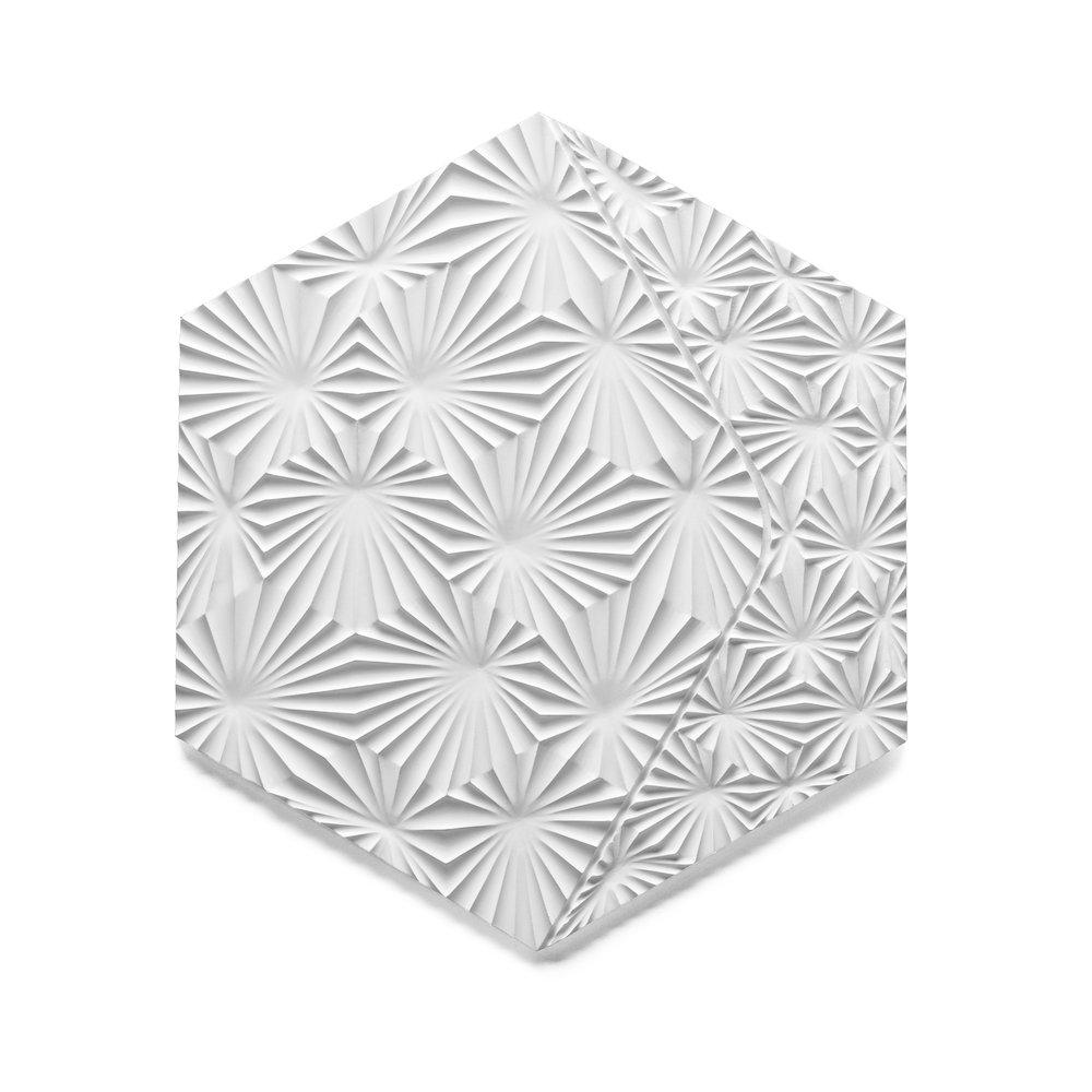 Tile 1 in Matte White