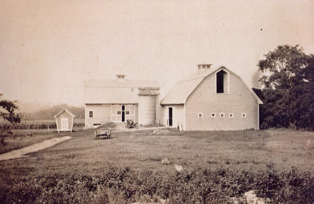 Early photograph of the barns