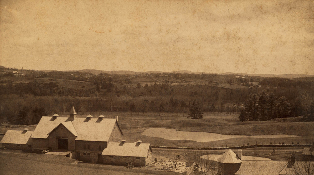 HISTORICAL IMAGE: STONOVER BARN BEING BUILT