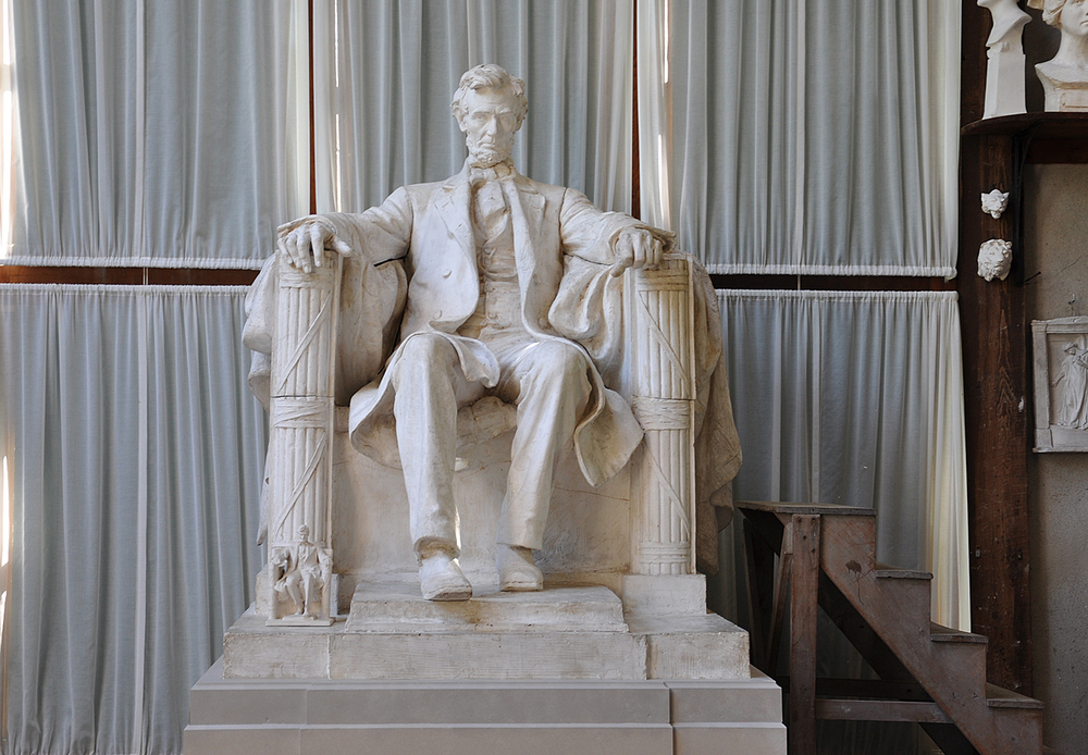 early plaster model for lincoln memorial